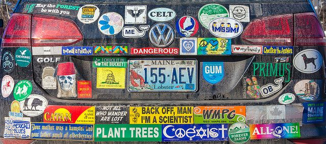 Bumper stickers by Paul van der Werf