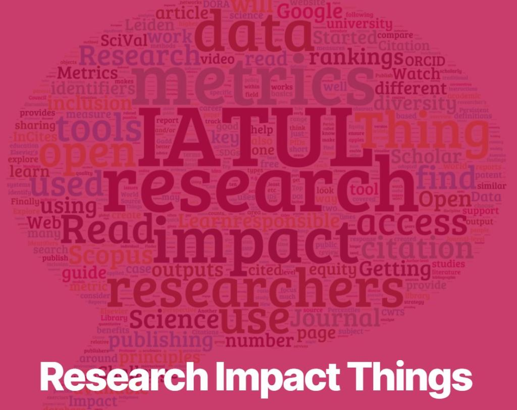 Logo for IAUTL Research Impact Things website